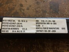 CDI 150-750 IN-LB TORQUE WRENCH GGG-W-2843 NEW