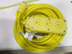 WOODHEAD MULTIPLE RUBBER OUTLET POWER STRIP BOX 50' NEW