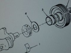 M151 JEEP FAN BELT PULLEY 8754597 NOS