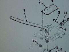 M764 2 1/2 TON POWER DIVIDER CONTROL LEVER 11623144 NOS