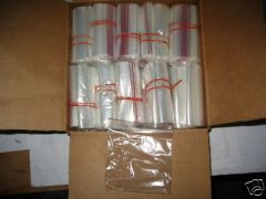 "1 BOX OF 1000 PLASTIC ZIP LOCK BAGS 4"" X 4"" NEW"