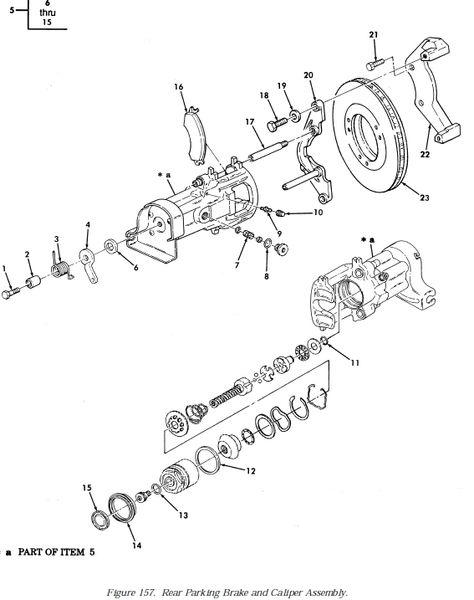 m998 rear parking brake shoe pad 106397