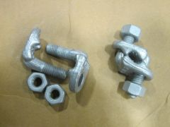 """GALVANIZED STEEL DOUBLE SADDLE C3/8G WIRE ROPE CLAMP 1/2"""" NEW"""