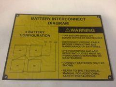 M1078 INSTRUCTION PLATE 12420459-001, 9905-01-392-8089 NOS