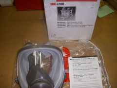 3M FULL FACE RESPIRATOR 6700 SMALL NEW