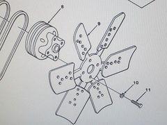 M561 GAMA GOAT ENGINE COOLING FAN 5120005 NOS