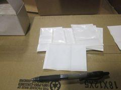 100 SLIT BACK ADHESIVE LABEL HOLDER PSIN-0 9930 NEW