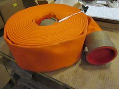 "50 ft. ACE 4"" FIRE HOSE + BRASS FITTING NEW"