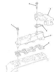 M1113 AIR INTAKE MANIFOLD GASKET SET 12531704, 5330-01-437-9216 NOS