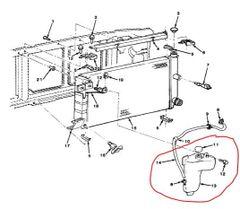 M1008 M1009 RADIATOR OVERFLOW TANK 14052221, 2930-01-159-2902 NOS