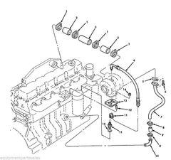M929A2 TURBOCHARGER HOSE ASSEMBLY 3909545 NOS