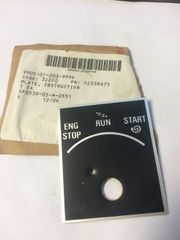 M998 IGNITION INSTRUCTION PLATE 12338475, 9905-01-203-9996 NOS