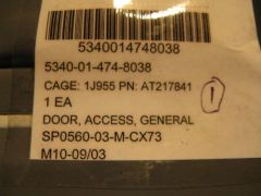 JOHN DEERE GENERAL ACCESS DOOR AT217841, 5004713 NOS