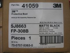 3M 41059 PROTECTIVE BOOT MATTE BLACK NEW IN BOX