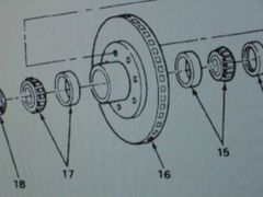 M1008 FRONT HUB ROTOR 15635678, 2530-01-216-4554 NOS