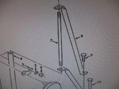 M939 REARVIEW MIRROR BRACKET ARM 12255995 NOS