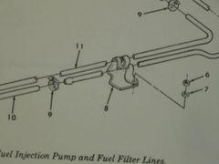 M998 A1 HUMVEE FUEL LINE CLAMP 14063340 NOS