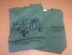Equipment Parts Sales T-Shirt (HMMWV) (GREEN)