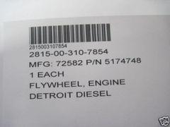 DETROIT DIESEL FLYWHEEL, 5174748 NOS