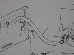 M1008 M1009 UPPER RADIATOR HOSE 14036744 NOS