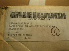 MRAP MAXXPRO BRAKE SHOE 16994421C91, 2530-01-326-9119 NOS