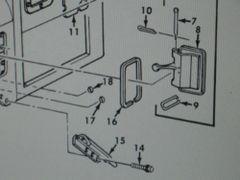 2 M809 5 TON CAB VENT DOOR GASKET 11677312 NOS