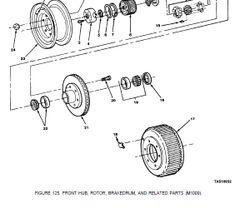 M1009 FRONT ROTOR INNER BEARING 7455617 NOS