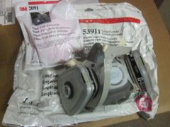 3M COMBINATION 53911 DUAL MASK P100 WITH FILTERS SIZE LARGE NEW