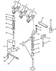 M977 ENGINE POPPET VALVE 5149771 NOS