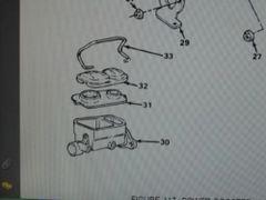 M1008 M1009 MASTER CYLINDER 2232073 NOS