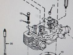 1 MEP-002A 5 KW MEP-003A 10 KW CYLINDER HEAD BOLT 800-0503 NOS