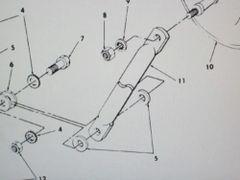 M151A2 JEEP REAR VIEW MIRROR ARM 10950861 NOS