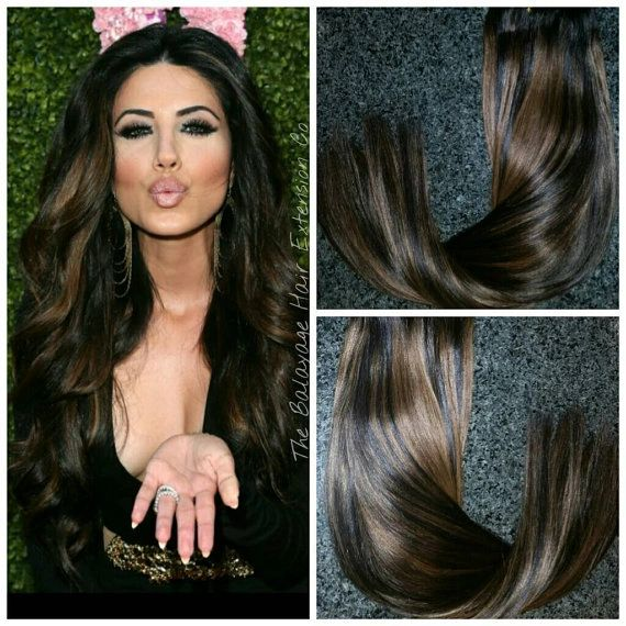 1b4 Arabian Princess Balayage Hair Extensions Clip In Set