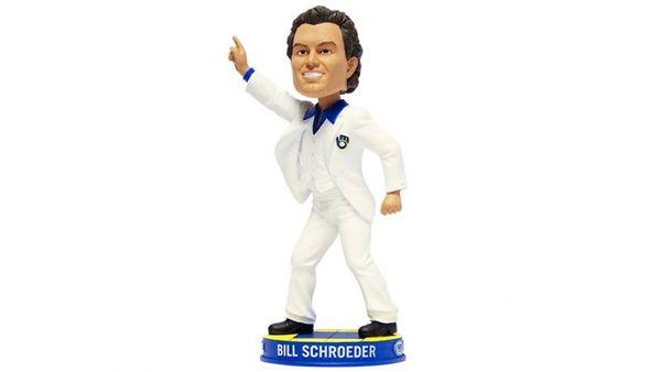 bill schroeder disco pose bobblehead aj collectables
