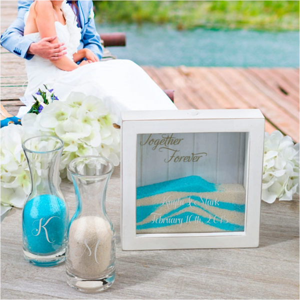 Custom Personalized Small Unity Sand Ceremony Picture Frame Set