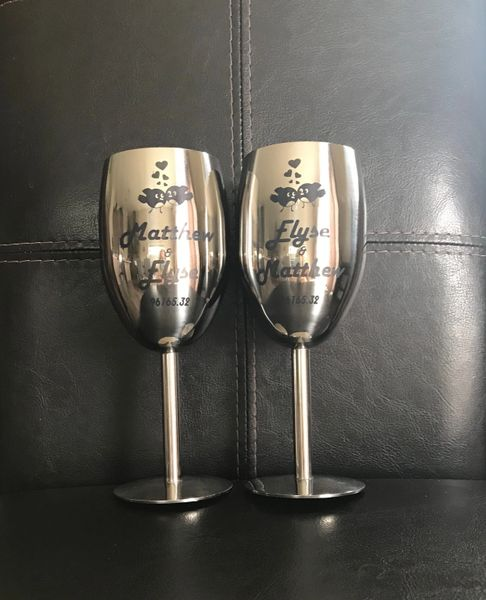 50e0c6d823fa Custom Printed Personalized Stainless Steel Champagne Flutes Wedd | All Custom  Printed Products