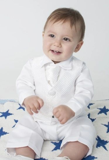 c2ddf310c Baby Boys Christening / Baptism Giorgio Checked Waistcoat Suit   Children's  Special Occasionwear
