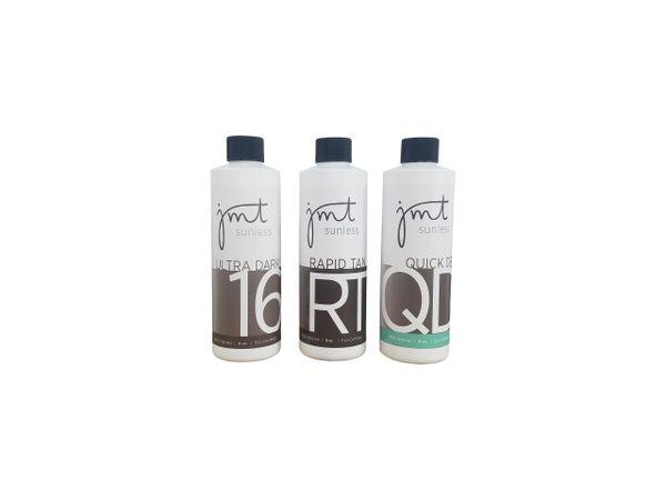 (8oz) Signature Line Sample Pack: 16%, Rapid Tan, Quick Dry