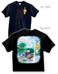 Lakeview Drive In Landscape 1957 Tee Shirt