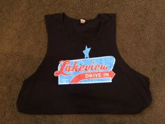Men's Black Lakeview Drive In Retro Tee or Tank