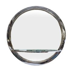 Design Institute of America (DIA) Mirror and Console in Chrome and Glass