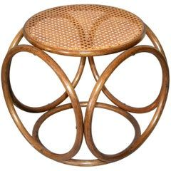 Michael Thonet Bentwood and Cane Stool, Ottoman, Side Table, End Table, Austria