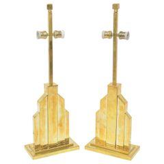 Fine Pair of Romeo Rega Skyscraper Table Lamps