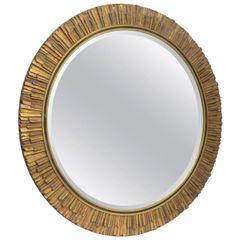 Sunburst Gilded Mirror w/ Bevelled Glass Italy