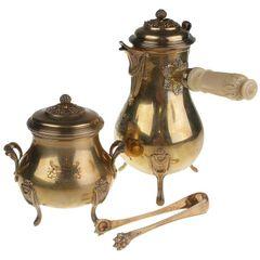 Boin-Taburet a Paris Gilded-Silver Chocolate Set
