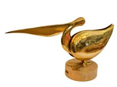 Bijan Brass Pelican Sculpture 1980s