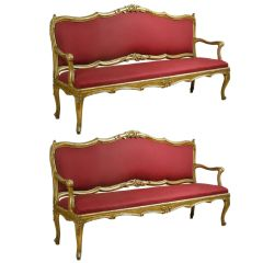 Extraordinary Pair of Louis XV Settees