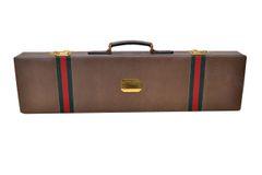 Original Gucci Shotgun Case in Leather & Brass