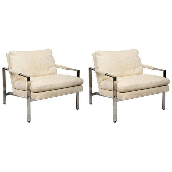 2 Milo Baughman Thayer Coggin Mid Century Modern Lounge Chairs