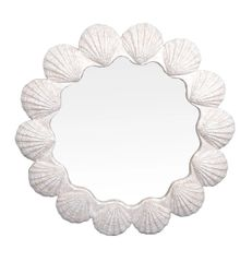 Modern Nautical Wall Shell Mirror